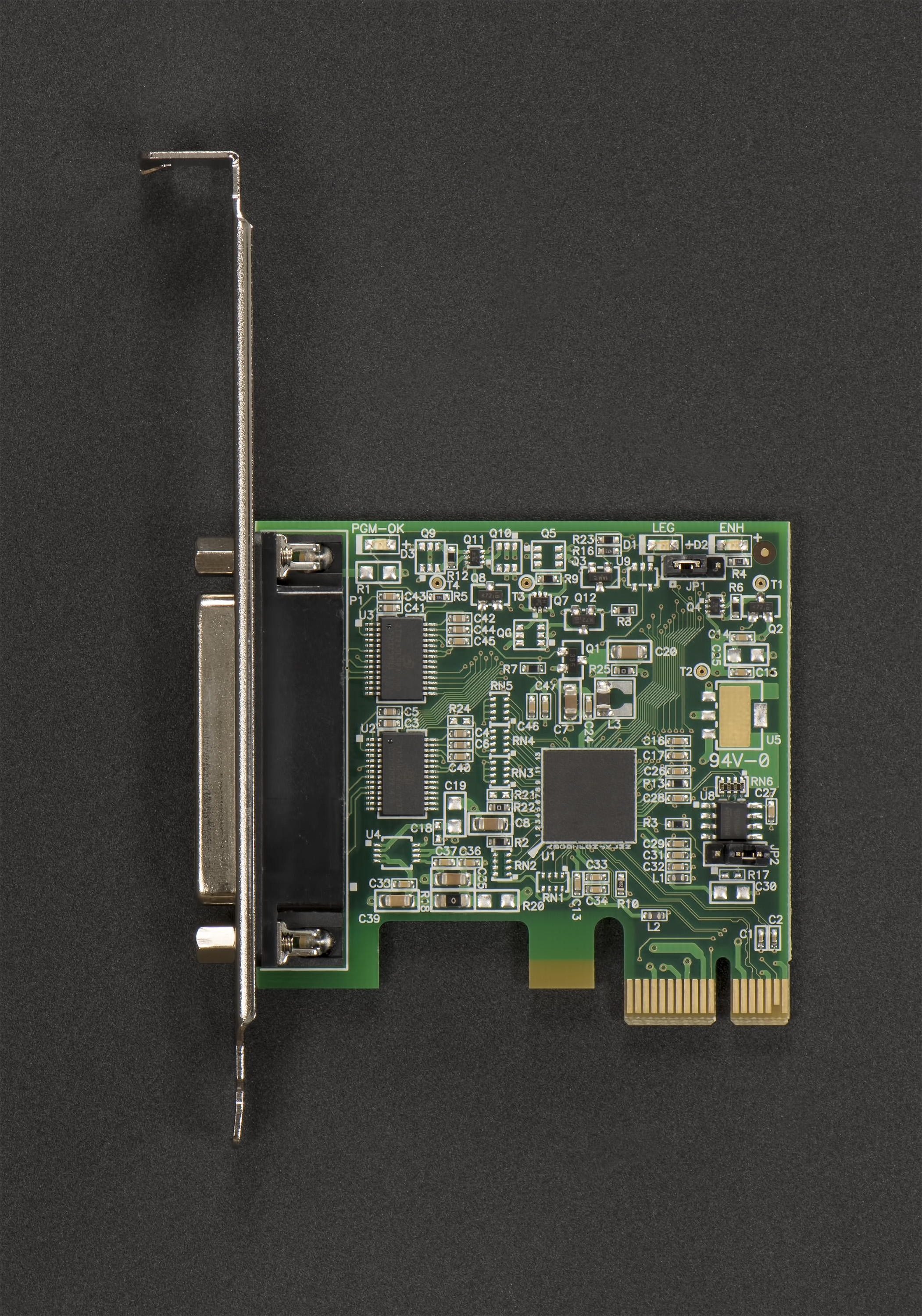 LF808KB PCI Express 2 Port RS232 Host Adapter (Windows / Linux / VMWare); Low / Full Height