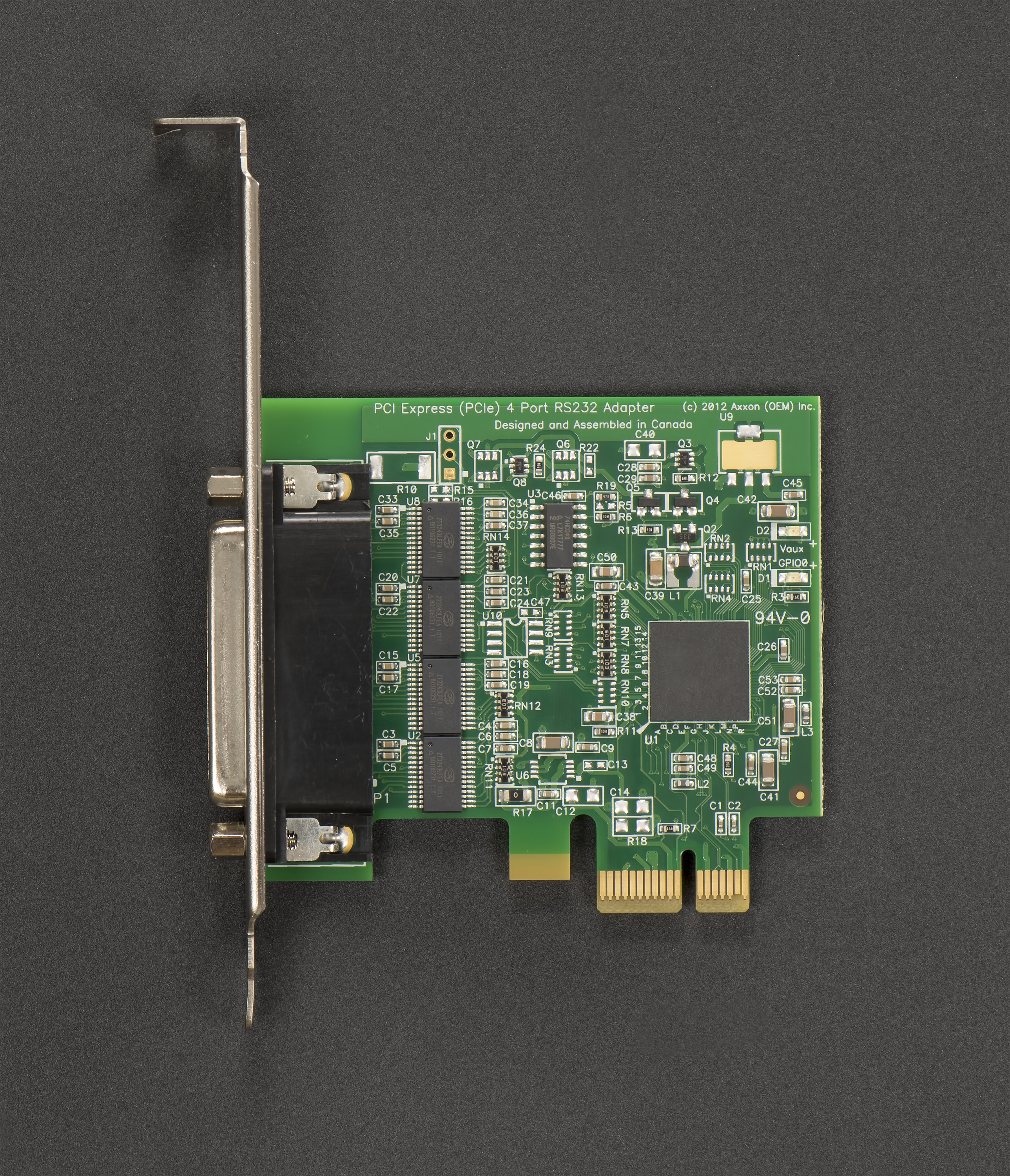 LF816KB PCI Express 4 Port RS232 Host Adapter (Windows / Linux); Low / Full Height