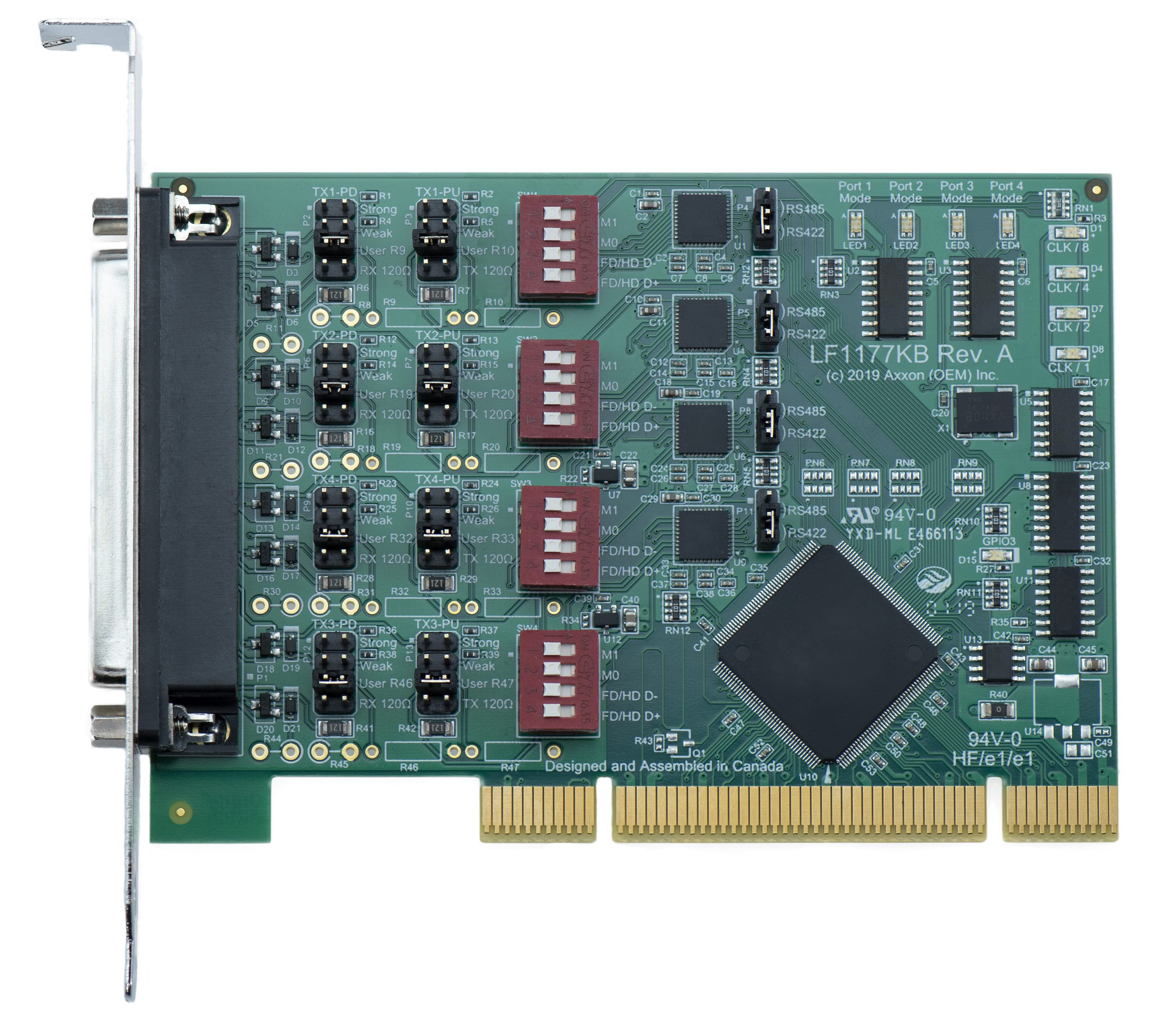 LF1177KB Universal PCI 4S RS232/RS422/RS485 Host Adapter (Windows / Linux); Full Height